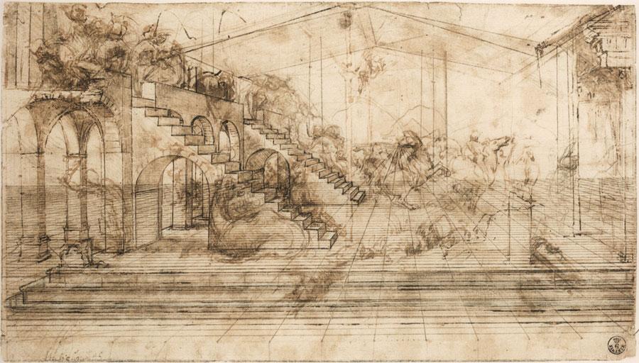 Leonardo Da Vinci Haus sammlung der drucke und zeichnungen der uffizien - florenz